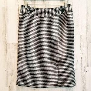 Ann Taylor Hounstooth Skirt